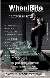 WheelBite Magazine launch party/ Sk8 jam!!